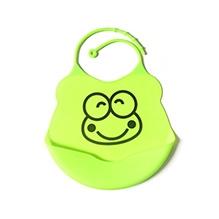 Glitter Art Silicone Bib Froggie - Green