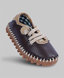 Cappuccino Brown Faux Leather Shoes