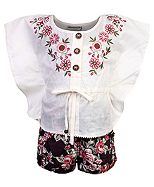 Peppermint Top And Shorts - Embroidery
