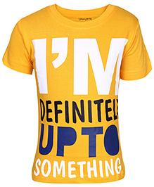 Babyhug T-Shirt Yellow - Short Sleeves