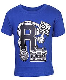 Babyhug Short Sleeves T-Shirt - Big Beats