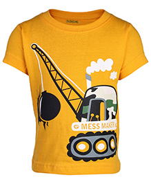 Babyhug Half Sleeves T-Shirt - Yellow