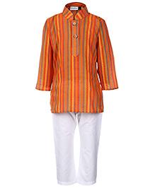 Babyhug Full Sleeve Kurta And Pajama - Stripes Print
