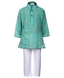 Babyhug Ethnic Kurta And Pajama Set - Stripes Print