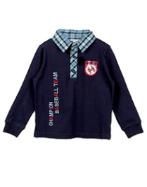 Beebay Check Collar Polo T-Shirt - Little Champs Embroidery - 7 Years