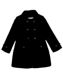 Beebay Full Sleeves Twill Overcoat - Black