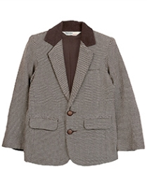 Beebay Basket Weave Blazer Full Sleeve - Brown