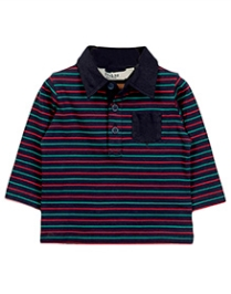 Beebay Elbow Patch Polo T-Shirt - Navy - 0 To 3 Months