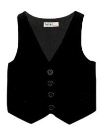 Beebay Corduroy Waist Coat - Black