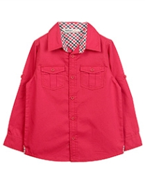 Beebay Full Sleeves Turn Up Shirt - Solid Colour