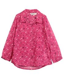 Beebay Full Sleeves Shirt Pink - Hearts Print