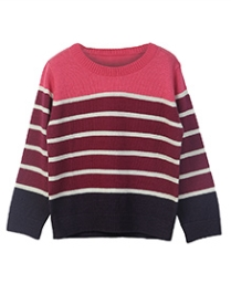 Beebay Round Neck Stripe Sweater - Multi Colour