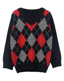 Beebay Full Sleeves Sweater - Diamond Intarsia