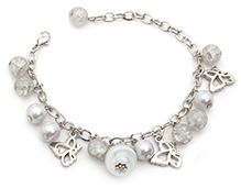 Stol'n Bracelet White Beaded Charms