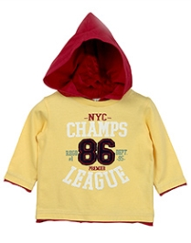 Beebay Full Sleeve Hooded T-Shirt - NYC Print - 3 To 4 Years