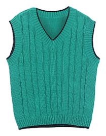 Beebay Sleeveless Cable Knitted Sweater - Green