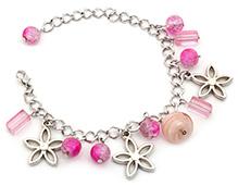 Stol'n Bracelet Pink - Beaded Charms