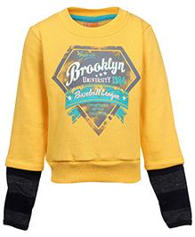 Little Kangaroos Sweatshirt With Hood - Brooklyn Print