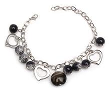 Stol'n Bracelet Black - Beaded Charms