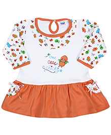 Tango Frock Full Sleeves Orange - Cute Chicky