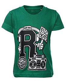 Babyhug Half Sleeve T-Shirt - Big Beats Print