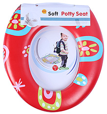 Fab N Funky Soft Baby Potty Seat - Red