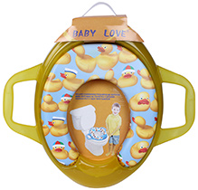Fab N Funky Baby Love Cushion Potty Seat With Handle Yellow - Duck Print