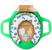 Fab N Funky Baby Love Cushion Potty Seat With Handle - Green