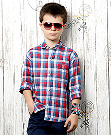 Active Kids Wear Full Sleeves Shirt And Trouser - Check Prints