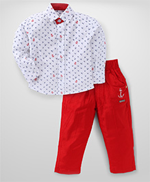 Active Kids Wear Full Sleeves Shirt And Trouser Set