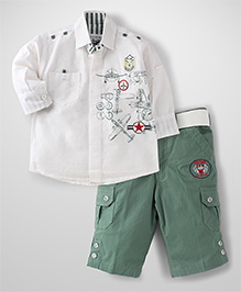 Active Kids Wear Full Sleeves Shirt And Capris Set