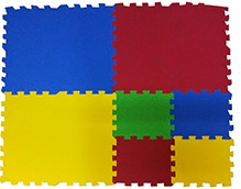 Ultimate Play Mats Multi Color - 7 Pieces
