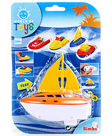 Simba World Of Toys Wind Up Sea Mini Boat - Orange