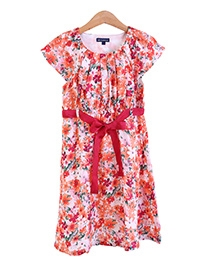 Bells and Whistles Flower Print Dress - Pink