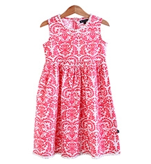 Bells and Whistles Pink Print On White Base Dress