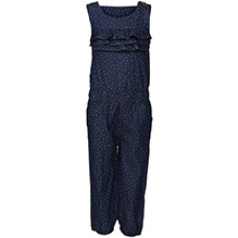 Bells and Whistles Sleeveless Jumpsuit - Dotted Print