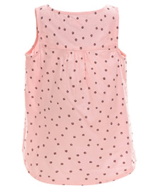 My Lil Berry Sleeveless Floral Print Top - Pink