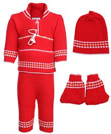 Babyhug Winter Wear Set - Red