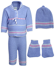 Babyhug Winter Wear Set - Purple