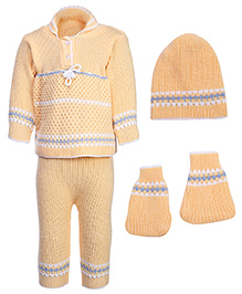 Babyhug Winter Wear Set - Yellow