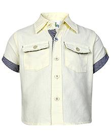 Babyhug Half Sleeves Shirt - Front Pockets