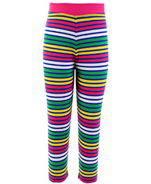 Babyhug Leggings - Stripes Print