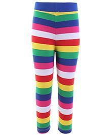 Babyhug Leggings - Multi Color Stripes