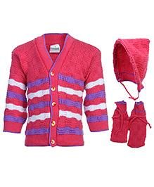 Babyhug Front Open Winter Wear Set - 12 To 18 Months