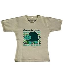 Earth Conscious Half Sleeve Organic Cotton T-Shirt - Tortoise Print
