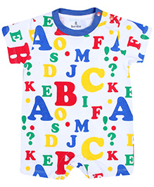 Child World Short Sleeves Romper - Alphabet Print