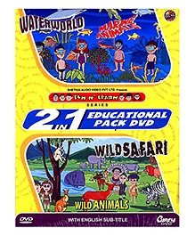 Gipsy Video 2 in 1 Water World And Wild Animal DVD - English