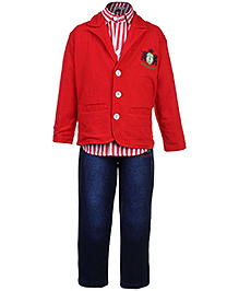 Active Kids Wear Shirt And Jeans With Jacket