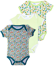 Honey Bunny Onesies Multi Print - Pack Of 3