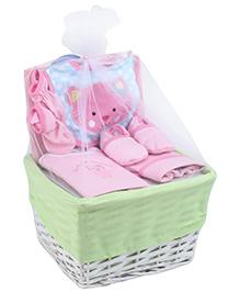 Honey Bunny Layette Basket Set - 6 Pieces